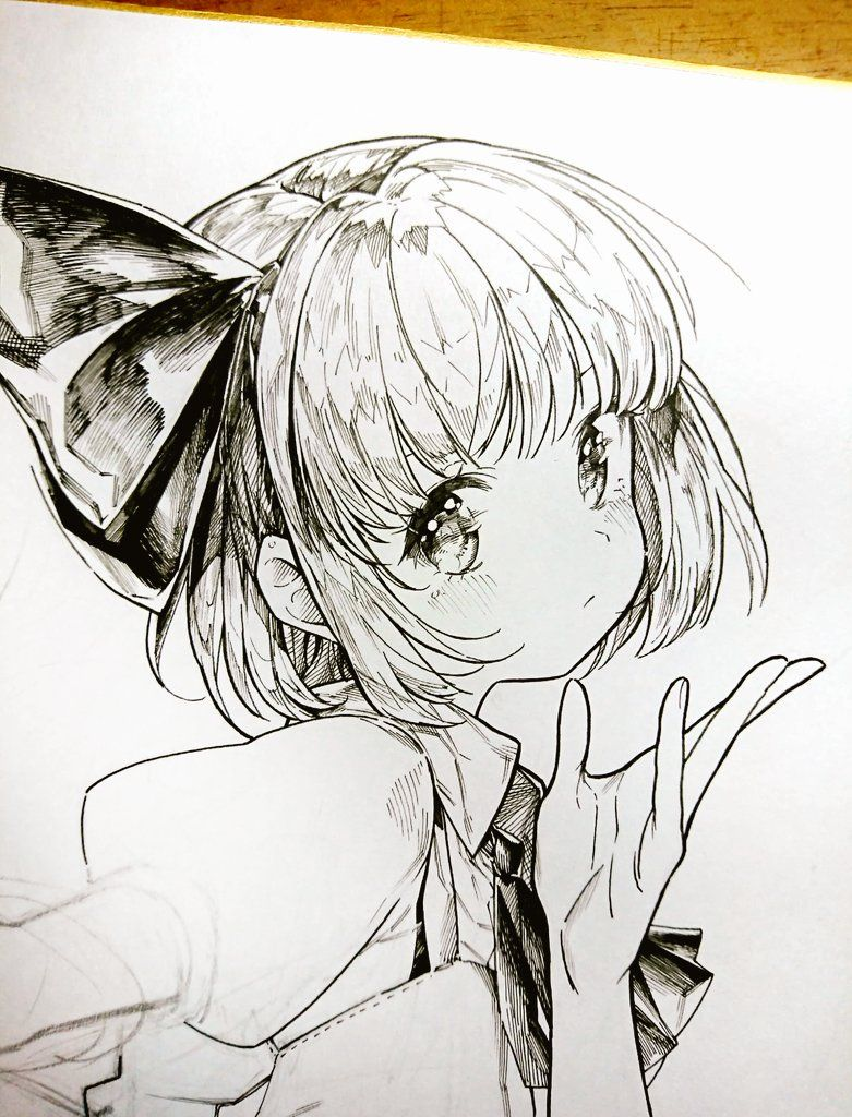 埋め込み x i have no idea what y wrote up there pen sketch anime