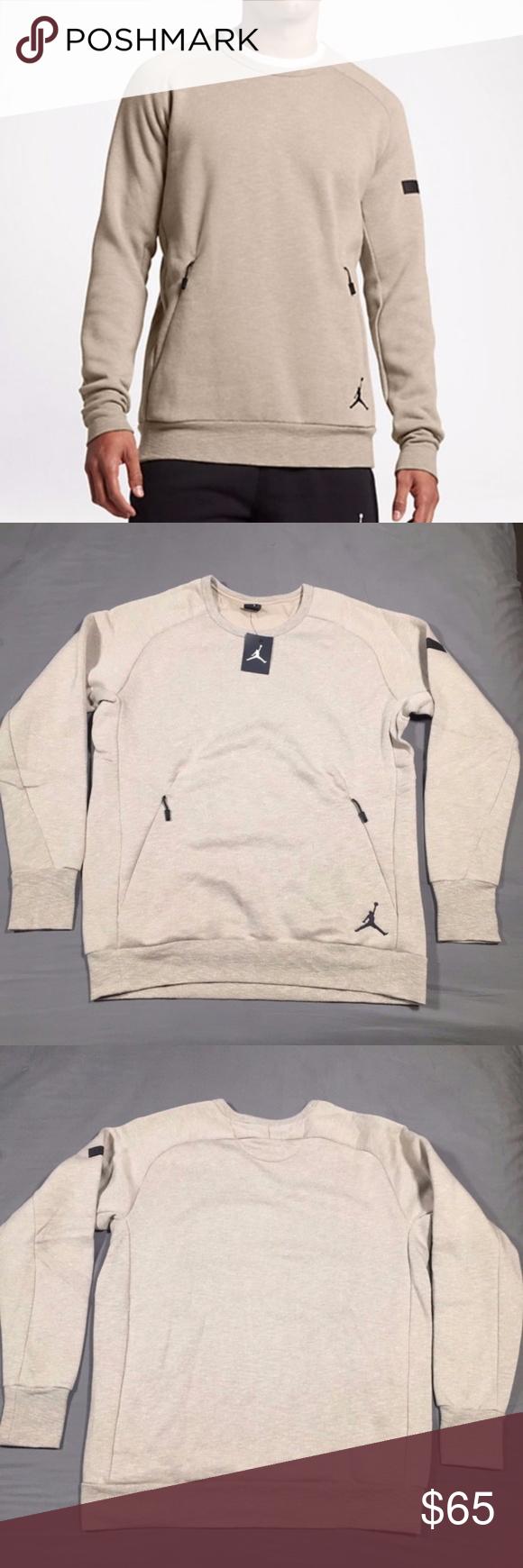 dc5f42dceeb448 Air Jordan Icon Fleece Crew Sweatshirt Size XLT NWT Nike Air Jordan Men s Icon  Fleece Crew Sweatshirt 802181 235 NWT Fabric Content  60% Cotton 40% ...