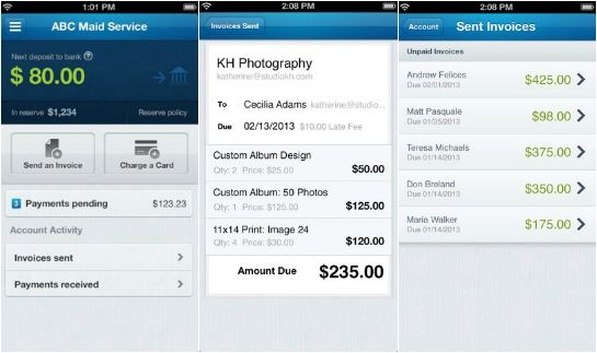 Online invoicing and payment app service WePay just released a new - send invoices