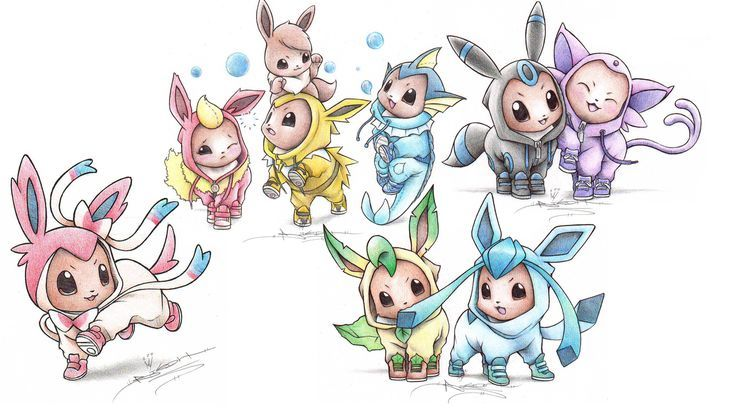 Kawaii Sylveon Coloring Pages Pokemon Eevee Pokemon Baby Pokemon