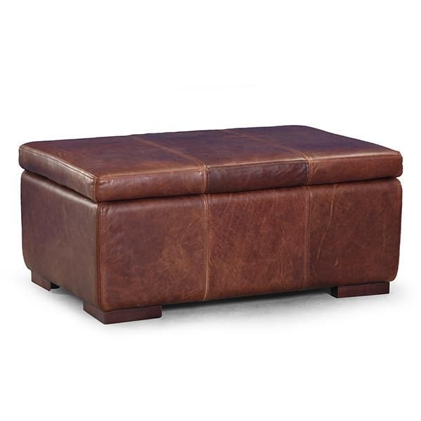 Pleasing Leather Storage Footstool Leather Sofas And Chairs Gmtry Best Dining Table And Chair Ideas Images Gmtryco