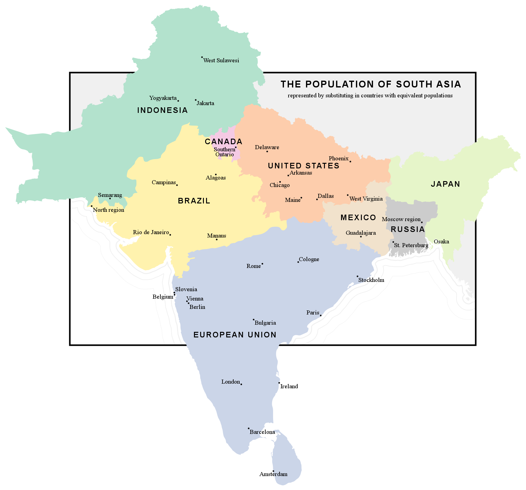 South Asia S Population In Perspective Reisen