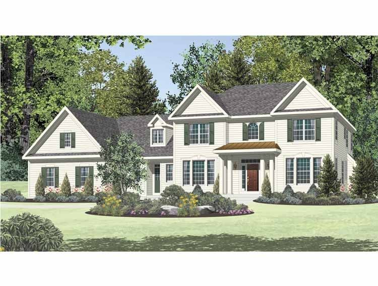 New American House Plan with 3193 Square Feet and 4 Bedrooms from Dream Home Source   House Plan Code DHSW65398