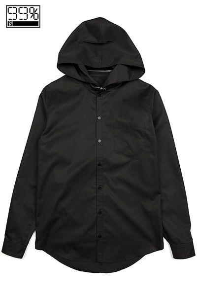 【99%IS-】フーディーシャツ/BLACK