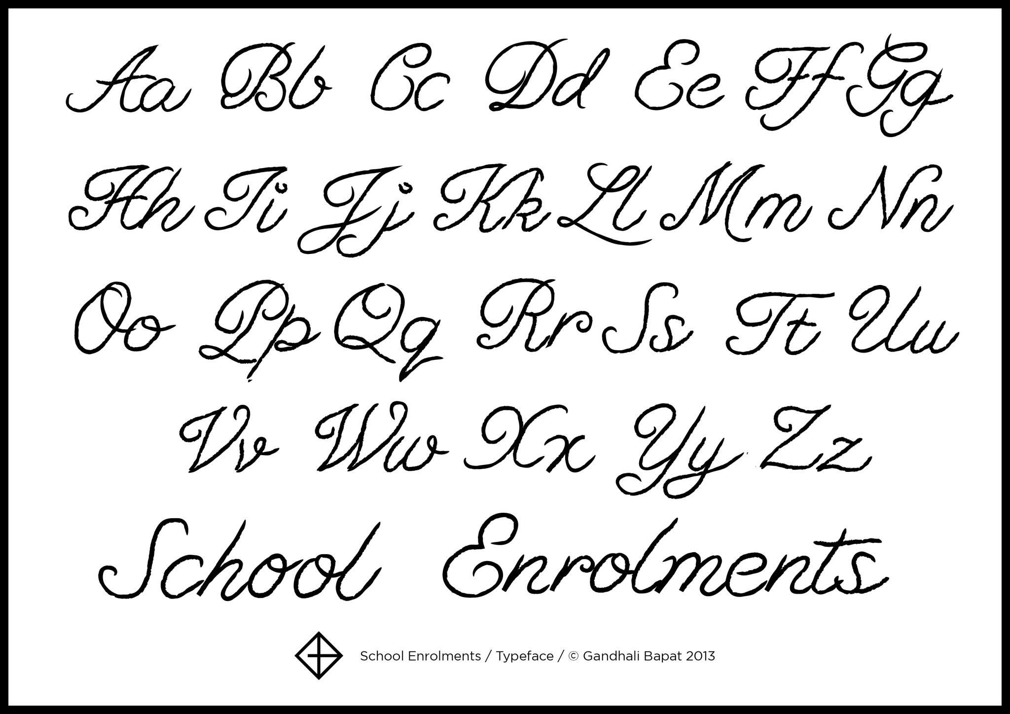Another Not Too Fancy Cursive Script Font Name School