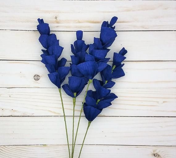 Crepe Paper Flower, Blue Paper Flowers, Paper Flower Bouquet, Texas Bluebonnet, Stock Snapdragon Delphinium,DIY Wedding Bouquet, Blue Flower #paperflowerswedding