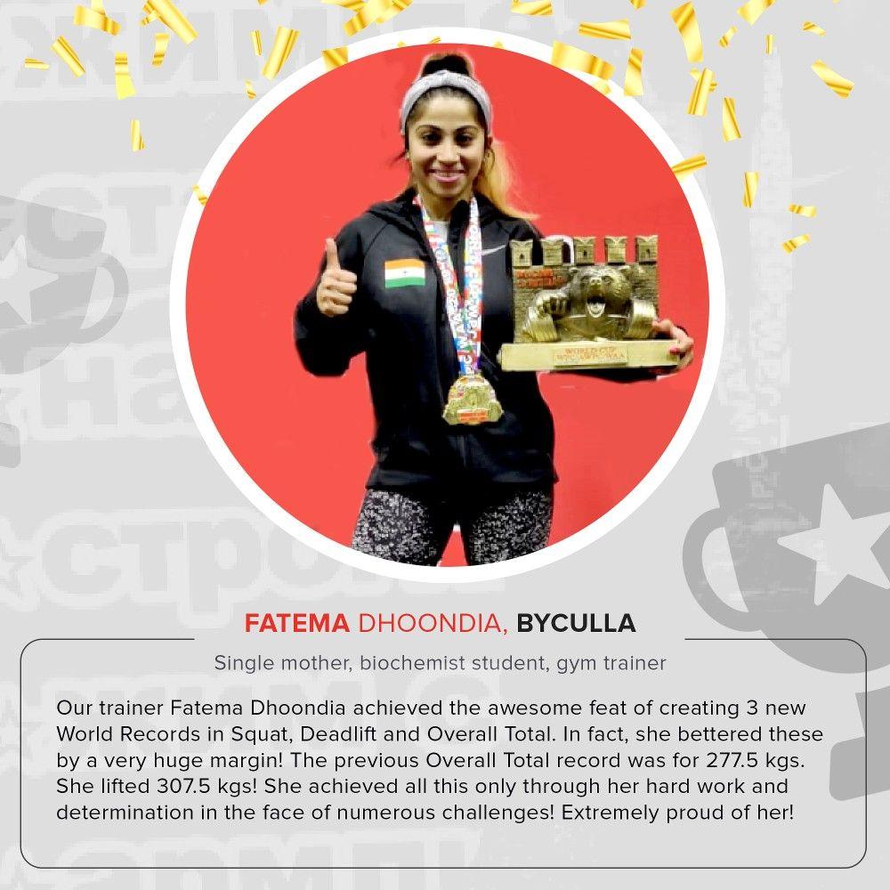 World Record Yet another feat achieved by @anytimefitnesskempscorner trainer @minibeastfatema A big