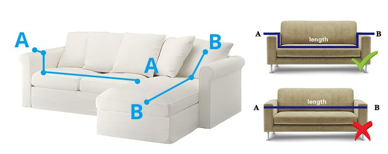2 pcs Corner Sofa Cover Elastic Couch Cover for Sofa ...