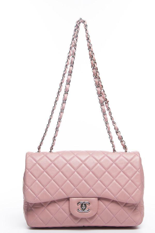 c8759e8fdfc8 Chanel Light Pink Lambskin Rectangle Mini Flap Bag | Chanel | Chanel ...