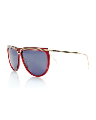 Vintage+Sunglasses+w/Center+Detail,+Red+by+Gucci+at+Bergdorf+Goodman.