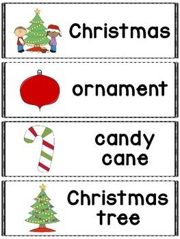 Free  Christmas Words Great For A Pocket Chart Word Wall Or