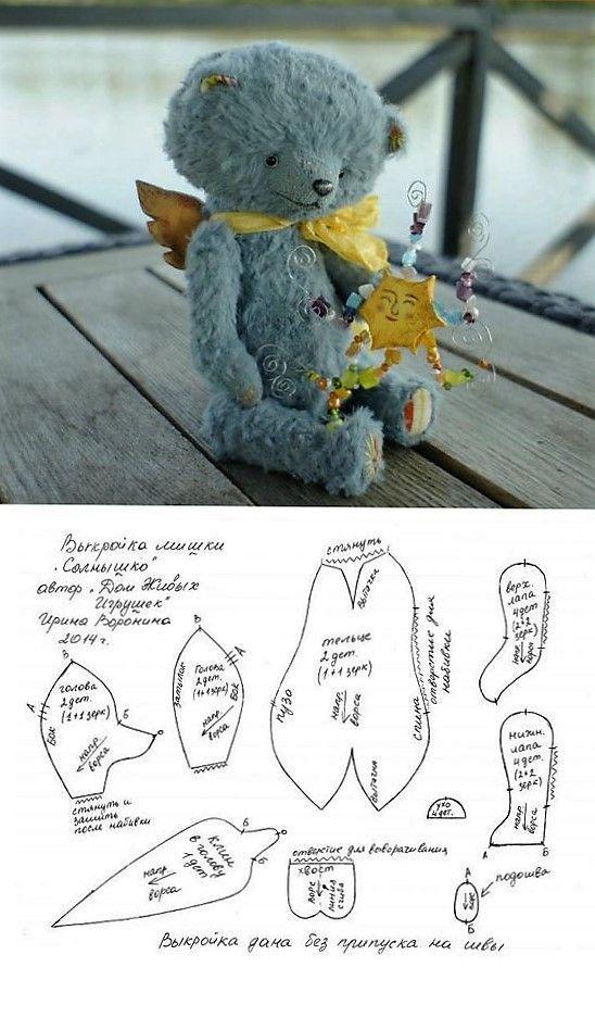 Pin de Angela Kotze en Teddy bear patterns | Pinterest