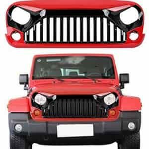 U Box Gloss Black And Red Front Vader Gladiator Grille Jeep