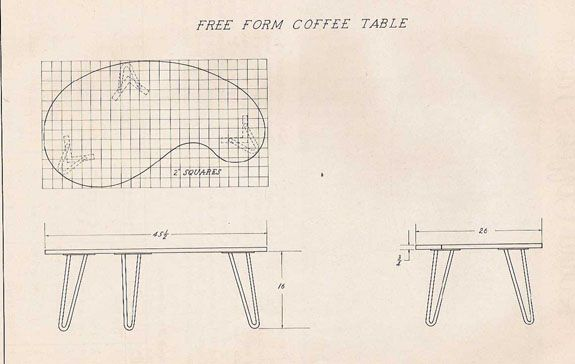 Plans For Building 1950 S Kidney Shaped Coffee Table