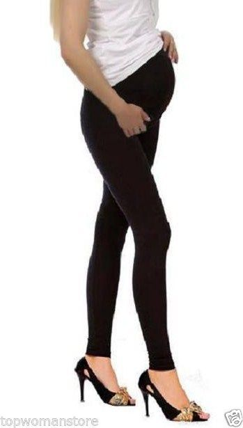 93ac56fe79bf Top woman  maternity cotton  leggings over bump pregnancy  clothes size 8  to 22