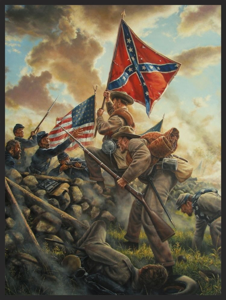 THIS SIDE OF THE LORD The last two members of the 26th North Carolina reach  the Angle during Pickett's C… | Civil war artwork, Civil war art, Civil war  confederate