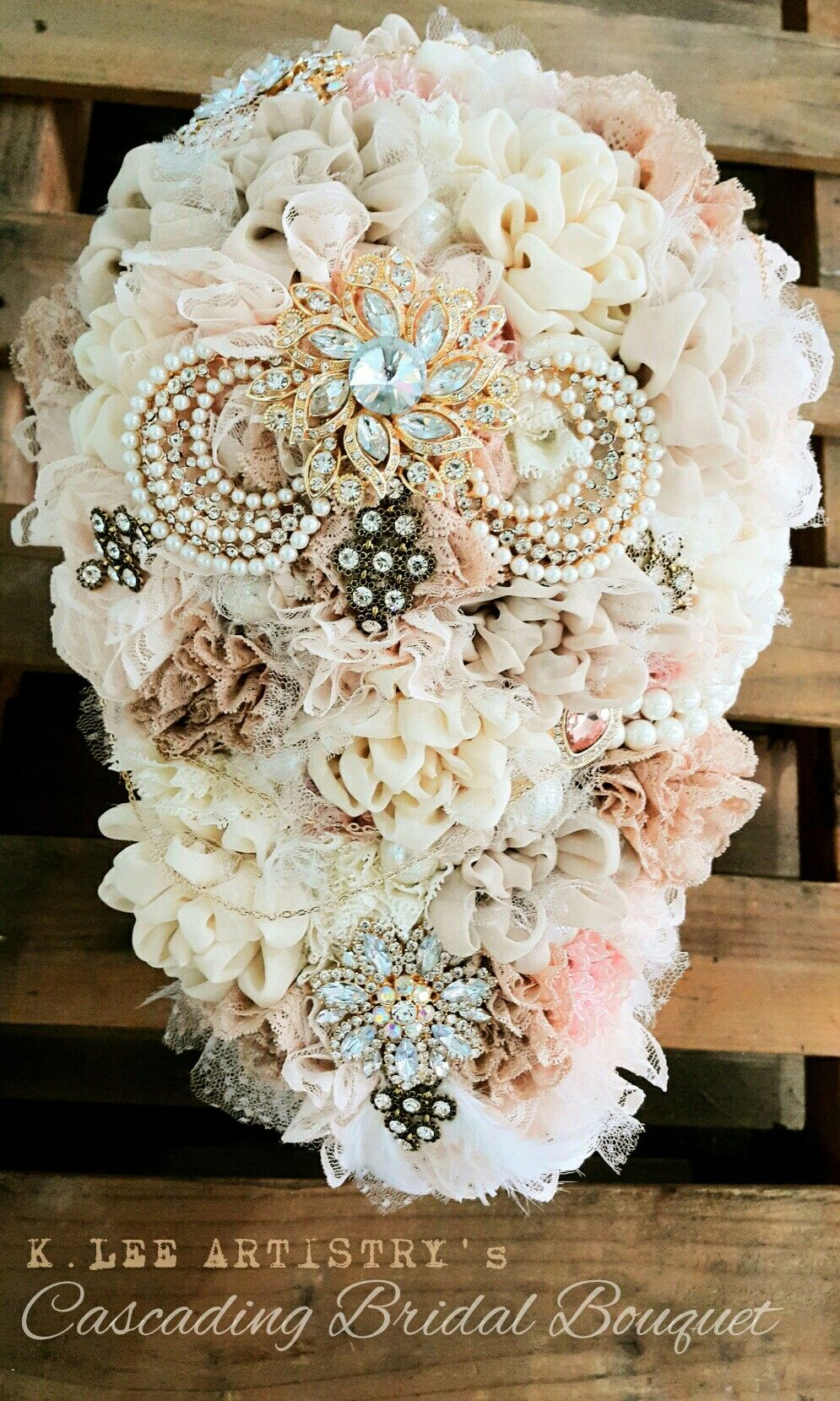 K Lee Artistry Cascading Fabric Wedding Bouquet Philippines