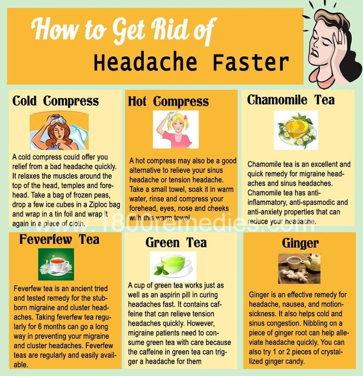 How to get rid of a headache without meds