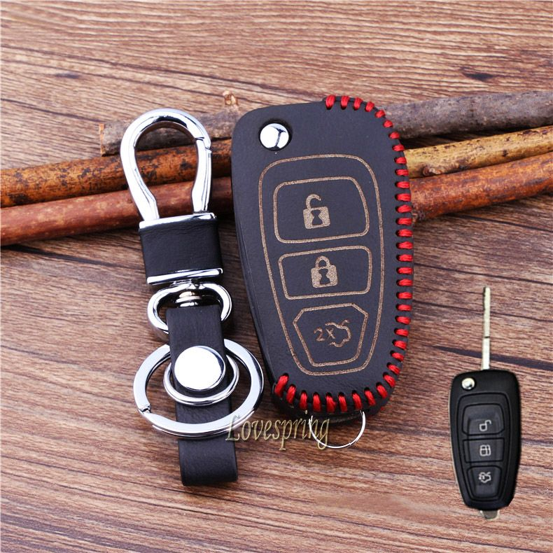 3 Buttons Leather Flip Car Key Cover Casefor Ford Focus St 2 3 Fiesta Ecosport Ranger Escape Kuga Mondeo Flip Key Ford Focus St Ford Focus Interior Accessories
