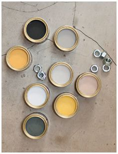neutrals with mustard yellows...: Industrial: A strong but fragile fusion of colour ~ Farrow