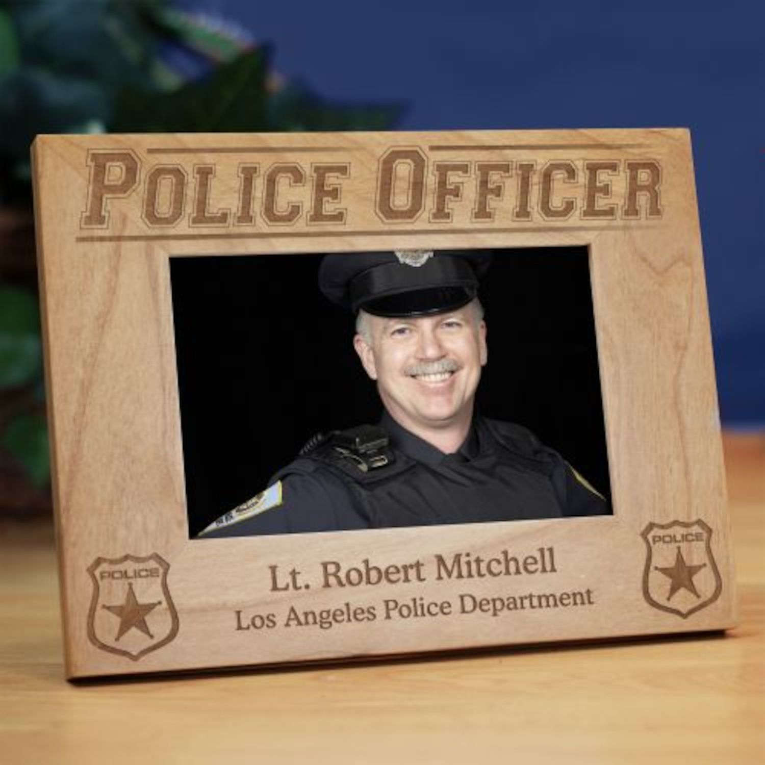 Personalized Police Officer Wood Picture Frame | Products ...
