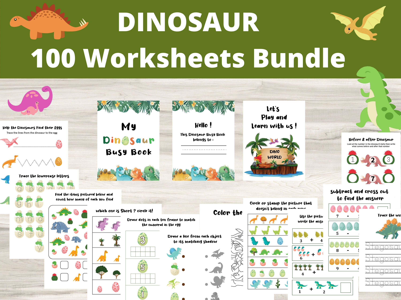 Dinosaur Worksheet Preschool Toddler Busy Book Dinosaur Etsy Preschool Worksheets Dinosaur Worksheets Busy Book [ 2250 x 3000 Pixel ]