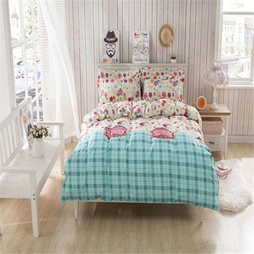 Single Queen TUKR 7 Bett Set Kissenbezug Fashion Floral