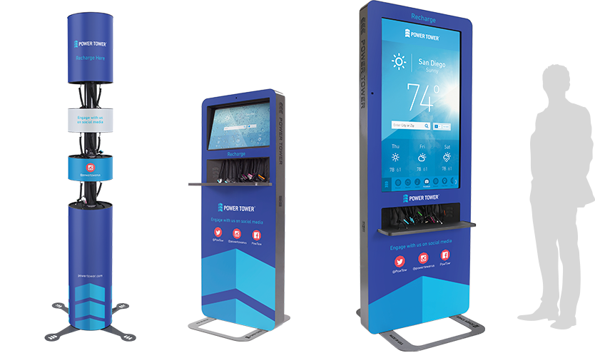 Power Tower Phone Charging Stations To Increase Booth Traffic