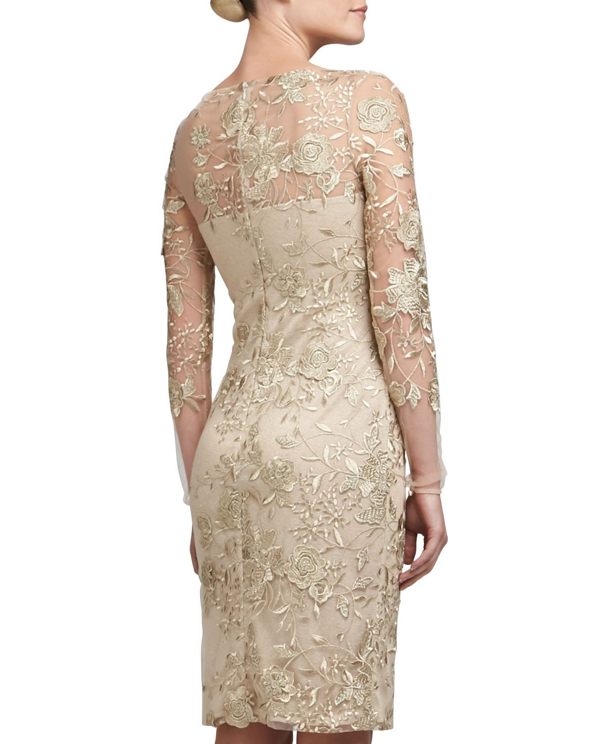 bf022d99410 David Meister Embroidered Lace Cocktail Dress - Neiman Marcus