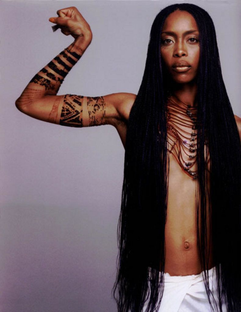 Love erykah badu hairstyles pinterest black girls for Erykah badu real tattoos