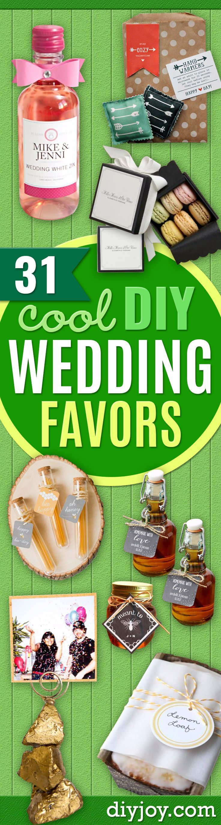 DIY Wedding Favors  Do It Yourself Ideas for Brides and Best