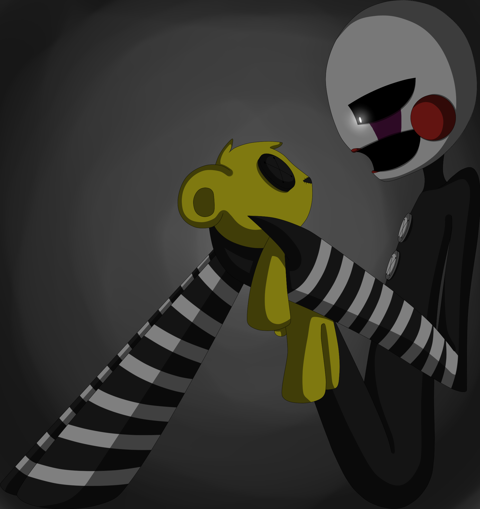 The puppet and golden freddy's by eliotakugamer01 deviantart