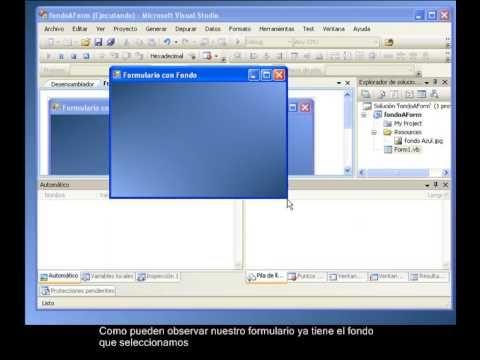 Agregar Fondo A Un Formulario Microsoft Informática Formularios