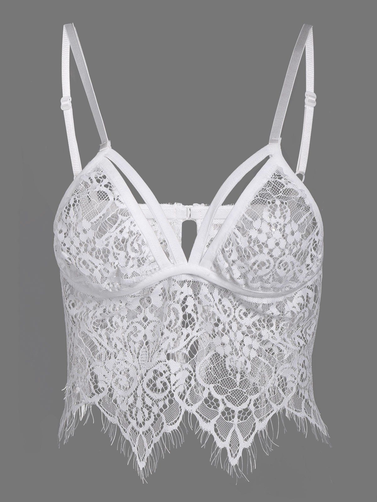 Bra for wedding dress shopping  Seamless Wave Cut Lace Bra  La Moda  Pinterest  Lace bra