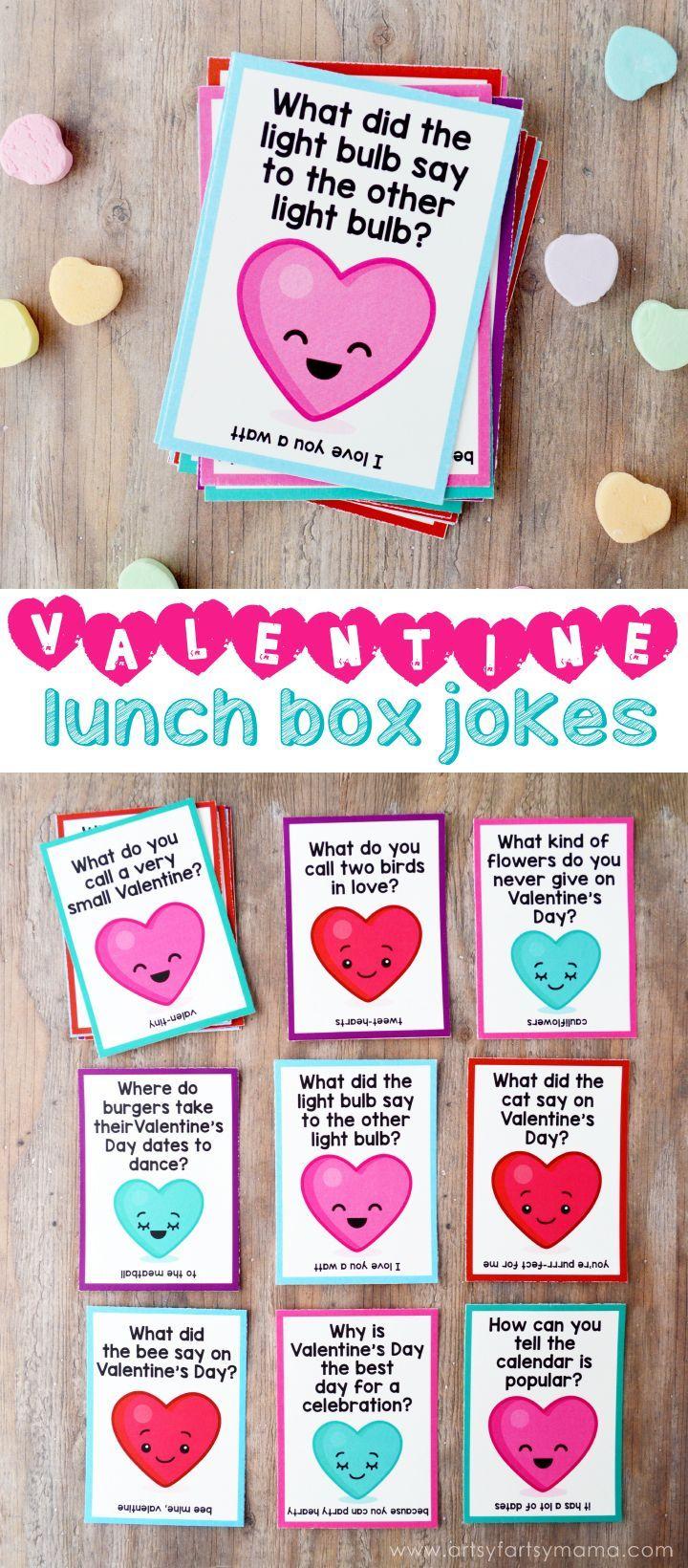 Free Printable Valentine Lunch Box Jokes | Lunch box jokes ...