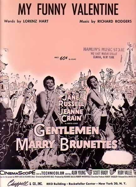 Music Business Movies My Funny Valentine Jane Russell 1937 Movie