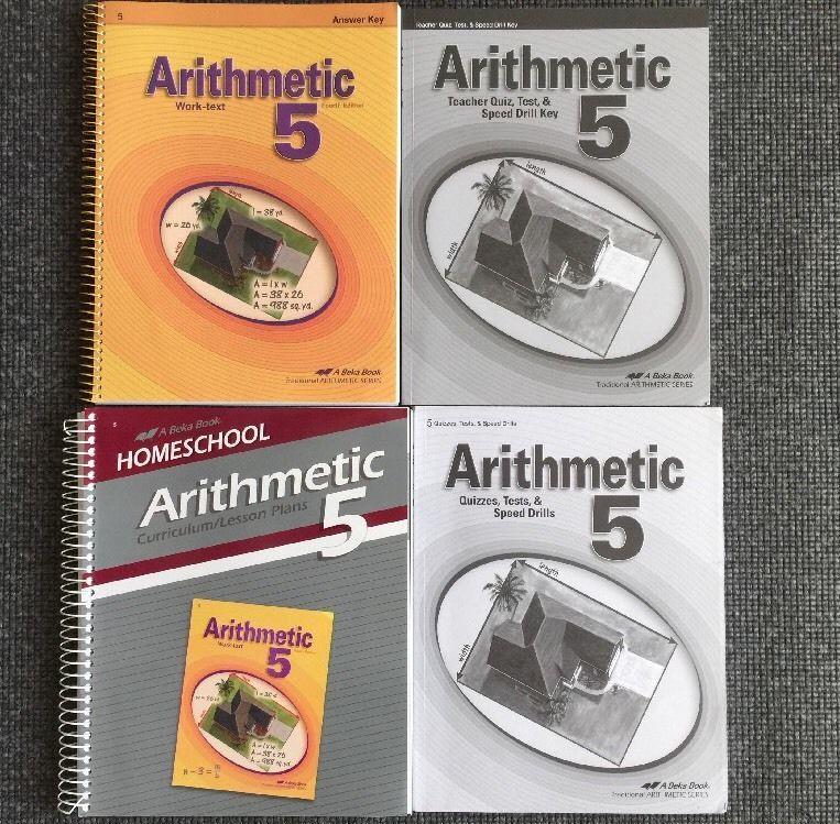 Abeka Grade 5 Math Arithmetic Teacher Curriculum Work Text Tests Quizzes Teachers Curriculum 5th Grade Math Education Math