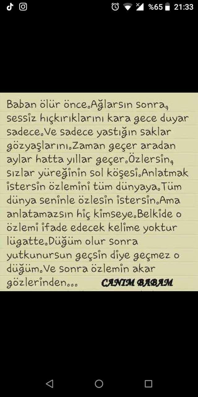 Olmus Babaya Ozlem Sozleri Words Dads