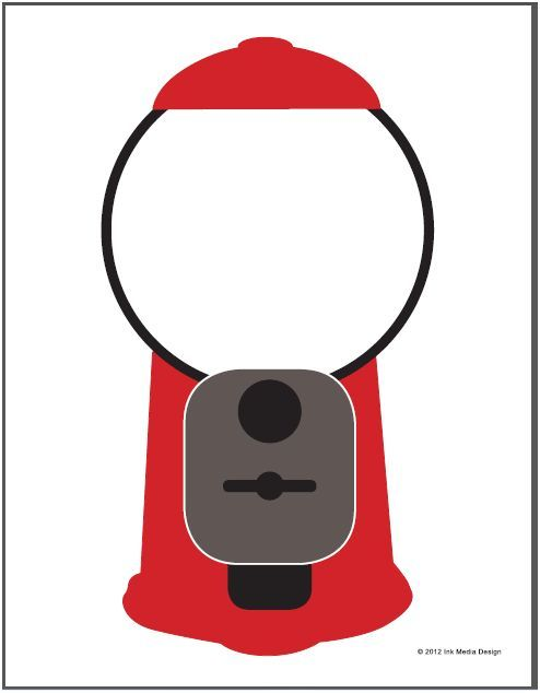 Gumball Machine Printable Gumball Machine Gumball Vip Kid