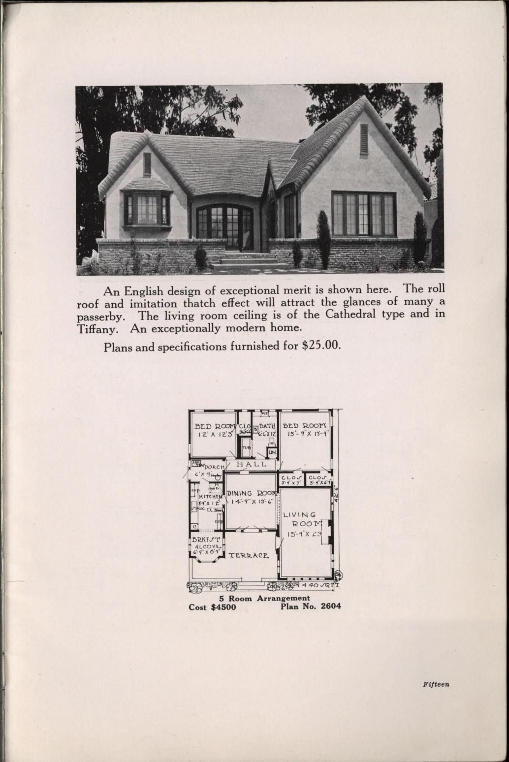 Bungalowcraft English And Colonial Designs Vintage House Plans House Plans House Floor Plans
