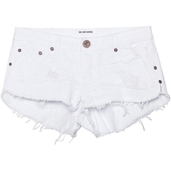 One Teaspoon Beauty Bonitas White // Destroyed shorts (145 CAD ...