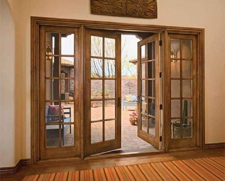 35 Admirable Wooden Exterior Door Ideas Exterior Exteriordesign Exteriordesigncolor Wood French Doors Wood French Doors Exterior French Doors Exterior