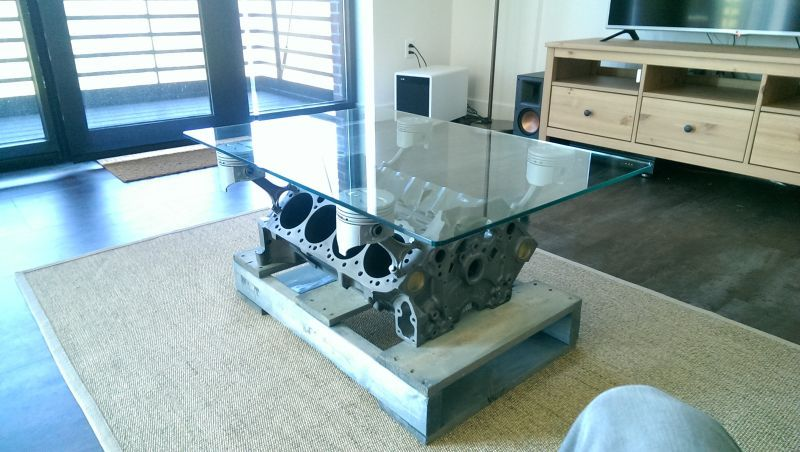 Making the Engine Block Coffee Table House stuff Pinterest