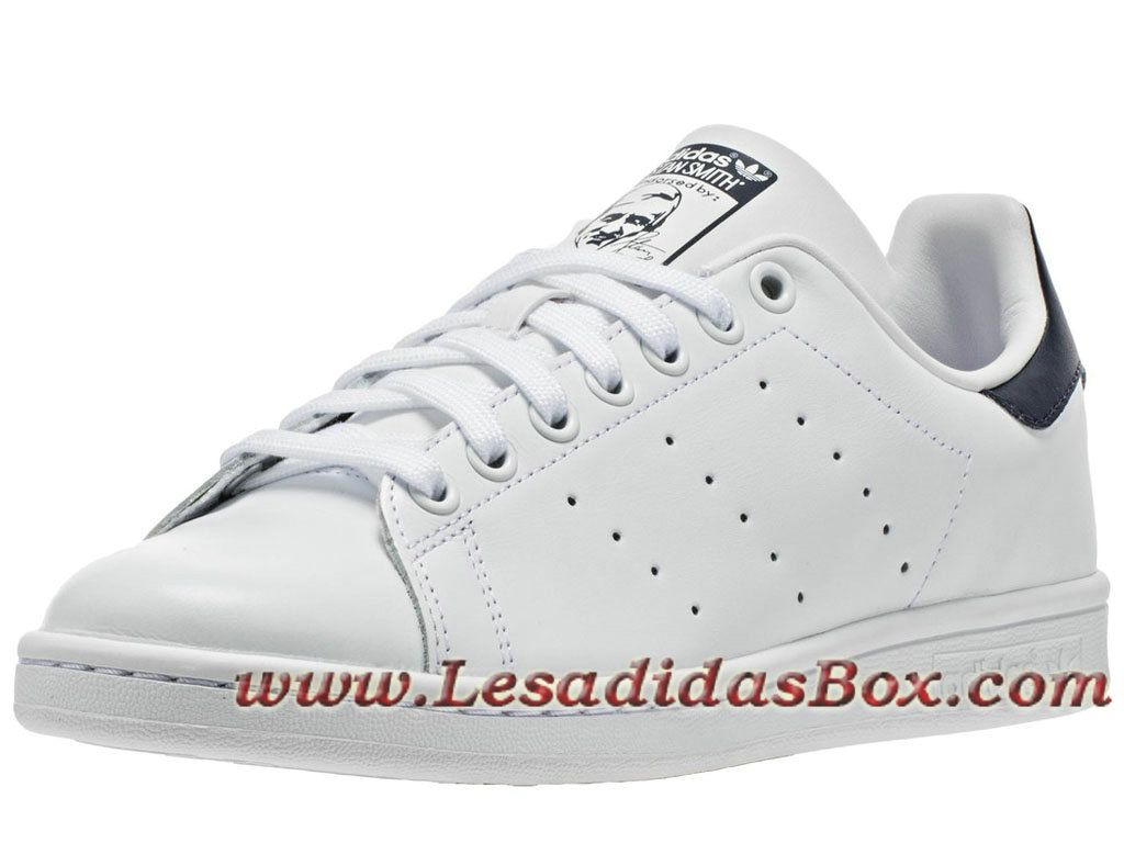 quality design df97a a0c4d Adidas Originals Homme Femme Chaussures stan smith Blanc Bleu M20325  Officiel prix