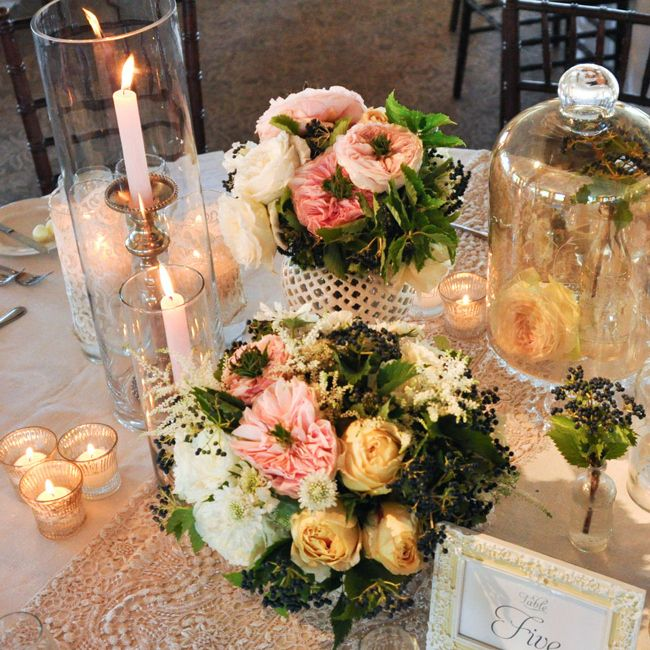 A Summer Vineyard Wedding at Ponte Winery /Centerpieces // John & Joseph Photography // Planner: Details Details // Location: Ponte Winery