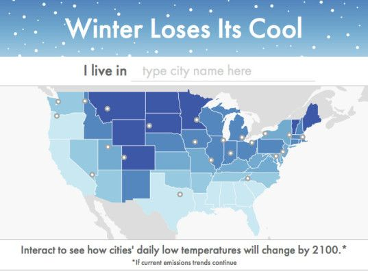 Winter loses its cool climate central shows us how winter nights this interactive map from climate central shows us just how warm our winter nights will get gumiabroncs Images