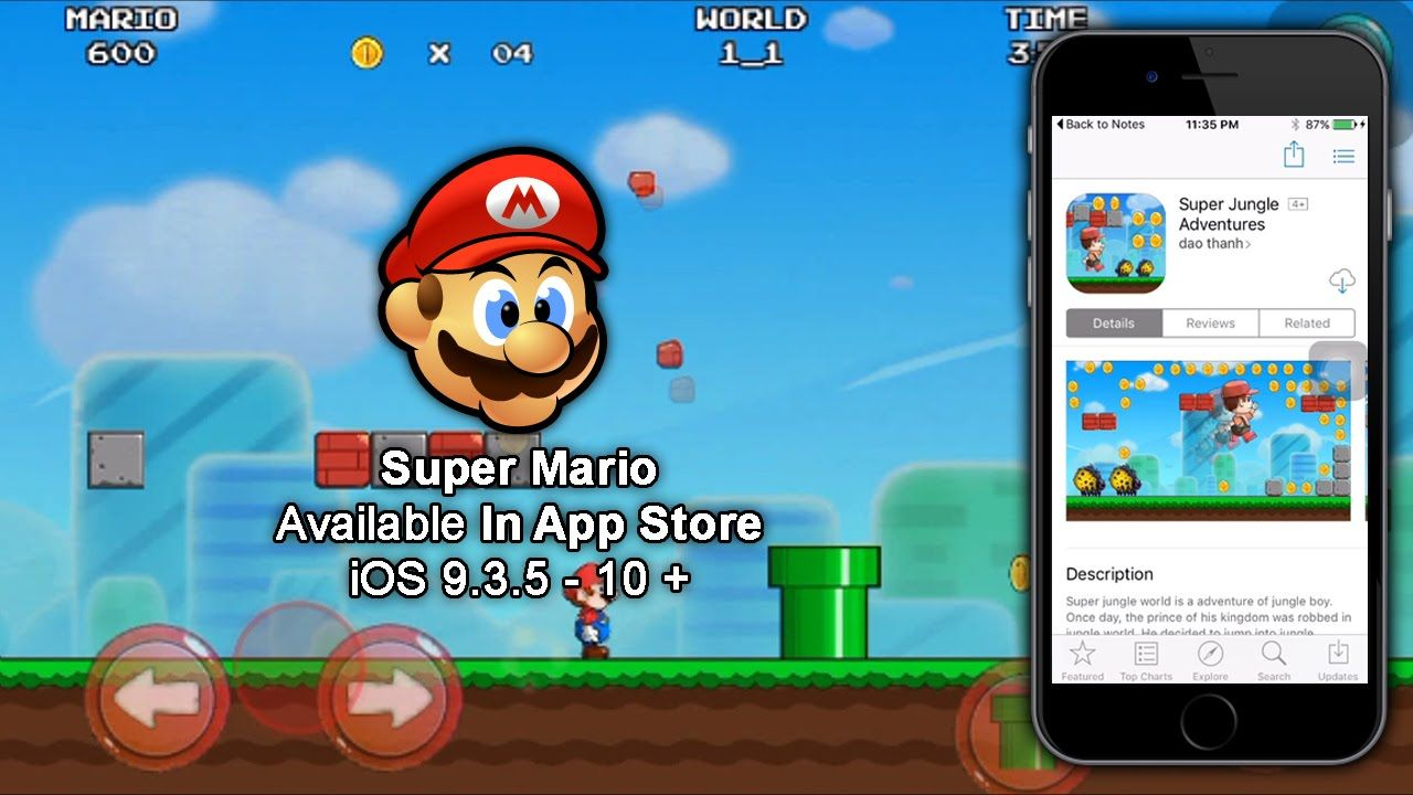 Download Super Mario Bros From App Store For iOS 9 3 5 - 10 For Free
