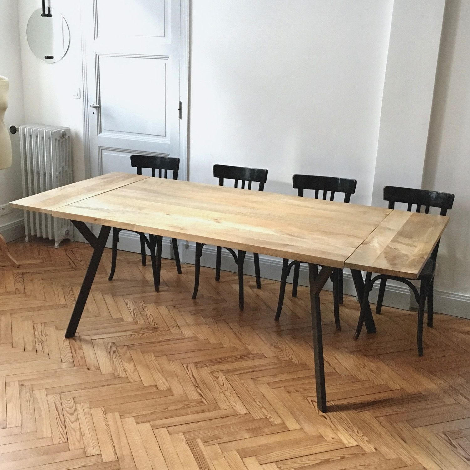 Table A Rallonge En 2020 Table A Rallonge Table Extensible Bois Table Repas