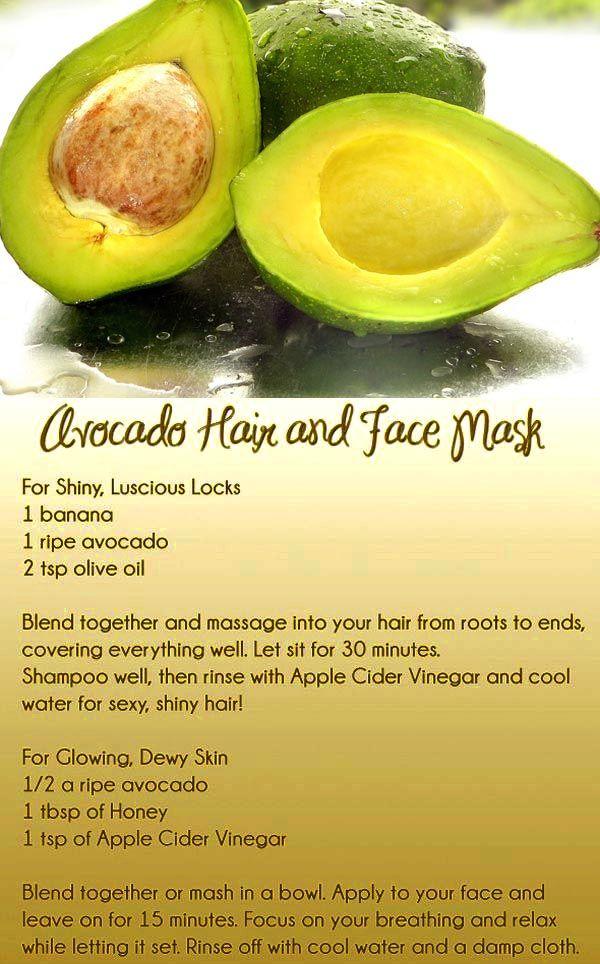 An Avocado Facial Mask - Quick and Simple Homemade Skincare\