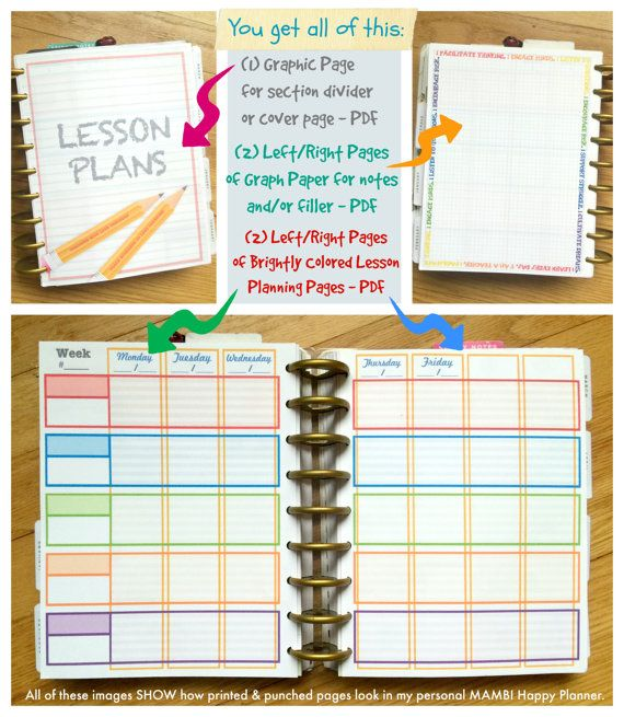 Printable Teacher Homeschooling Planner Pages for MAMBI Happy - bill organizer chart